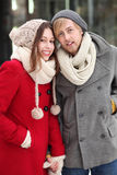 Couple in winter clothing Stock Photo