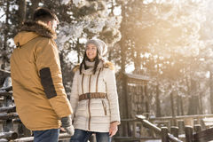 Couple on a winter vacation Stock Photography