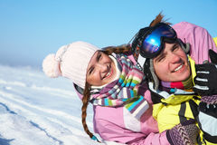 Couple in wintertime Stock Photography