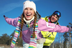 Couple in wintertime Royalty Free Stock Photo