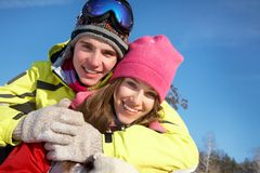 Couple in wintertime Royalty Free Stock Images