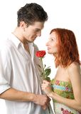 Couple With Rose Royalty Free Stock Photography
