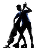 Couple woman man exercising workout Stock Photography