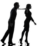 Couple woman seductress bonding concept  silhouette Royalty Free Stock Photography