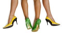 Couple women`s legs Stock Photo
