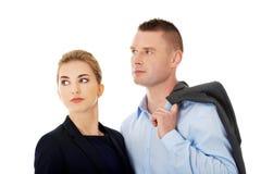 Couple wondering about their job Stock Photos