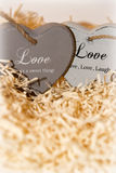Couple of wooden love hearts Stock Images