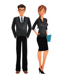 Couple worker office business standing Royalty Free Stock Photography