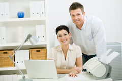 Couple working at home Stock Images