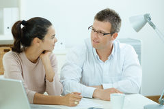 Couple working at home Royalty Free Stock Photo