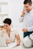 Couple working at home office Royalty Free Stock Photo