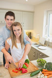 Couple working in the kitchen Royalty Free Stock Photography