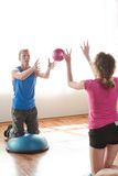 Couple working out stock photography