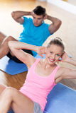 Couple working out Stock Image