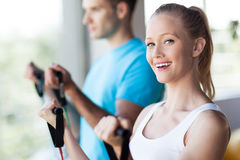 Couple working out at a health club Royalty Free Stock Photography