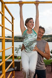 Couple Working Out. Mature Couple Working Out Together Stock Images