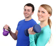 Couple working out Royalty Free Stock Photos