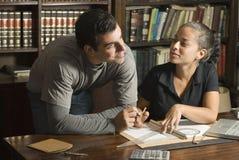 Couple Working on Paperwork - Horizontal Royalty Free Stock Image