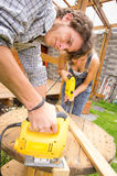 Couple working together on renovation project Stock Images