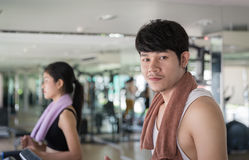 Couple Workout Stock Images