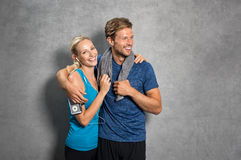 Couple after workout Stock Images