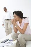 Couple Worried About Money Stock Images