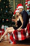 Couple xmas Stock Photography