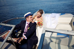 Couple on the yacht Royalty Free Stock Photo