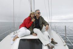 Couple On Yacht Stock Photography