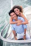 Couple on a yacht Stock Image