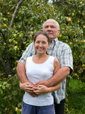 Couple in yard Royalty Free Stock Photos