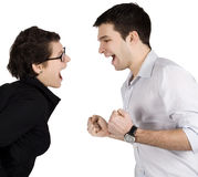 Couple yelling at each other. Stock Image