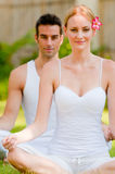 Couple Yoga Royalty Free Stock Photos