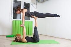 Couple yoga Stock Image