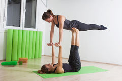 Couple yoga Royalty Free Stock Photography