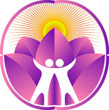 couple yoga logo Royalty Free Stock Photos