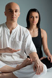 Couple yoga meditation Stock Image