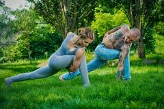 Couple of yogi Stock Photography