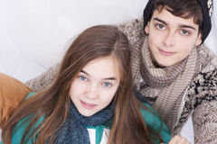 Couple of young. Guys  on white background Royalty Free Stock Photos