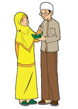 Couple of young asian muslim Royalty Free Stock Photo