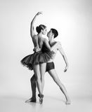 Couple of young and athletic ballet dancers Royalty Free Stock Photography