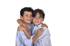 Couple of young brothers Stock Photos
