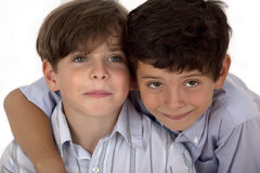 Couple of young brothers Royalty Free Stock Images