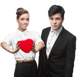 Couple of young business people Stock Photo