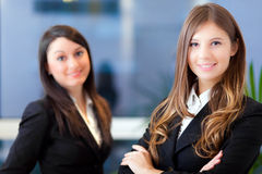 Couple of young businesswoman Stock Photos