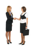 A couple of young businesswomen Royalty Free Stock Image