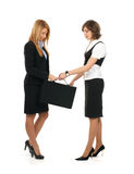 A couple of young businesswomen in formal clothes Royalty Free Stock Image