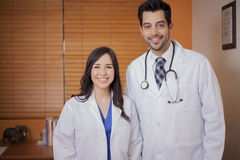A couple of young doctors Royalty Free Stock Images