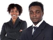 Couple of young executives Stock Photos
