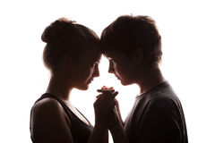 Couple of the young in love Stock Photo